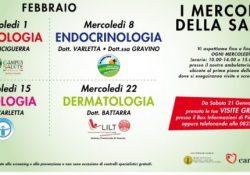 """Marcianise. Al Centro Commerciale Campania tornano """"I mercoledì della salute"""": visite mediche gratuite dal 1 febbraio a dicembre 2017 (dalle 10 alle 14 – dalle 15 alle 19)."""