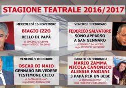 """TEANO. Attesa all'auditorium """"Tommasiello"""" per la commedia """"Tre papa' per un bebe'"""" in scena il prossimo 18 febbraio."""
