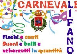 ALIFE. Carnevale alifano, i dettaglio dell'evento in programma da domenica 26 febbraio.