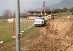 """GIOIA SANNITICA. Procedono i lavori al campo sportivo di Gioia Sannitica, il Sindaco Raccio: """"in programma numerosi interventi per lo sport""""."""