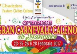 SPARANISE. Gran Carnevale Caleno a cura dell'associazione Festum Civitas Calena: presto il via della 40° edizione.