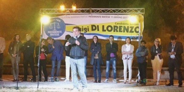 Piedimonte matese comizio di lorenzo vallata