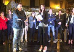 """PIEDIMONTE MATESE / Amministrative 2017. Lista """"Uniti per Piedimonte"""", ieri sera comizio in Piazza Cappello: parcheggi e Tari i punti toccati da Di Lorenzo."""
