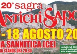 GIOIA SANNITICA. Sagra degli Antichi sapori a cura della locale Pro Loco: la XX edizione edizione in citta' dal prossimo 12 agosto.