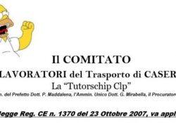 Caserta. Comitato lavoratori del trasporto contesta la gestione commissario-tutorShip: tutti i diritti dei lavoratori.