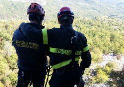 Castelnuovo a Volturno. Esercitazione tra Vigili del Fuoco e Soccorso Alpino Guardia di Finanza: feriti alpinisti.