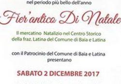 """BAIA E LATINA. """"Fier'Antica di Natale"""": ecco il mercatino natalizio nel centro storico alla frazione Latina."""