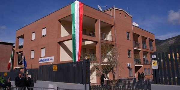 La nuova Caserma Carabinieri intitolata all'Appuntato Scelto Tiziano Della Ratta