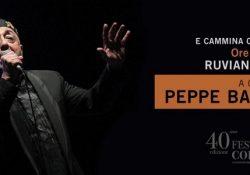 """RUVIANO. Stasera il maestro Peppe Barra alla Festa dei Cornuti: presenterà il suo spettacolo musicale """"E cammina cammina""""."""