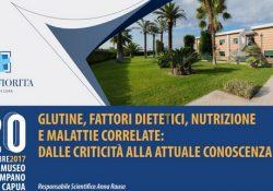 """Capua. """"Glutine, fattori dietetici, nutrizione e malattie correlate: dalle criticità all'attuale conoscenza"""": il convegno di mercoledì 20 dicembre al Museo Provinciale Campano."""