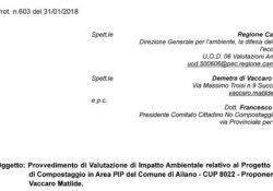 AILANO. Impianto di compostaggio rifiuti, il sindaco Lanzone assicura che domattina indirà il Consiglio comunale in merito: intanto ecco il provvedimento VIA relativo al progetto.