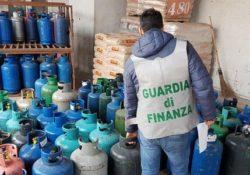 CAMIGLIANO. 77mila litri di gas in bombola sequestati poichè senza collaudo: operazione della Guardia di Finanza.