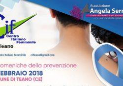 """TEANO. """"Le Domeniche della Prevenzione"""" a cura dell'Associazione Onlus Angela Serra: ecco la data in città."""