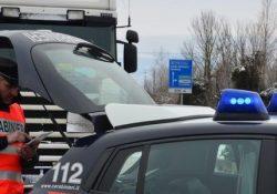 Venafro. Non rispettano il divieto di circolazione per l'emergenza neve, conducenti di tir multati dai Carabinieri.
