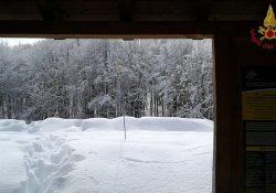 Monte Meta / Pizzone / Valle Fiorita. Esercitazione dei Vigili del Fuoco specializzati in tecniche Speleo Alpino FLuviali: ambiente ostile con neve alta 125cm.