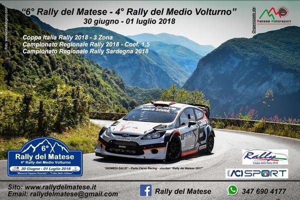Si lavora per il 6° Rally del Matese, 4° del Medio Volturno: il 30 giugno…