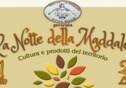 """CAIAZZO. Il 21 e 22 luglio """"La notte della Maddalena"""": prodotti tipici e cultura protagonisti."""