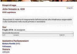 Costituzione della Repubblica, diritti e doveri della persona: ecco la proposta di legge a firma M5S per allargare l'insegnamento delle materie giuridiche nelle scuole.