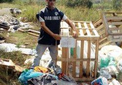 Caserta / Provincia. I Carabinieri Forestali sequestrano due aree interessate da smaltimento illecito di rifiuti speciali.