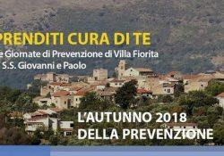 CAIAZZO / CAPUA. L'autunno 2018 della prevenzione, Villa Fiorita inaugura domani sabato 29 settembre il ciclo di 4 giornate dedicate a varie patologie.