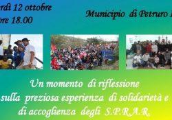 """Petruro Irpino. """"Un momento di riflessione sulla preziosa esperienza di solidarietà e di accoglienza degli Sprar""""."""