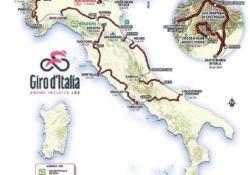 """Ecco il Giro d'Ital 2019, la """"corsa rosa"""" non scenderà al di sotto di Cassino: escluse le isole, la Campania, la Calabria e la Basilicata, solo sfiorata la Puglia."""