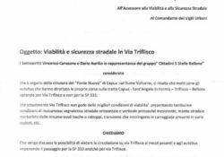 """BELLONA / TRIFLISCO. Emergenza maltempo, il gruppo """"Cittadini 5 Stelle"""" sollecita il sindaco per la questione sicurezza sulla strada per Triflisco."""