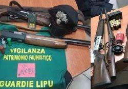Caserta / Provincia. Servizi antibracconaggio dei carabinieri Forestali: denunciate 27 persone, sequestati armi e materiale per il richiamo.