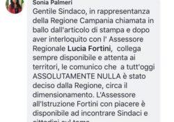 """PIEDIMONTE MATESE / ALIFE. Accorpamento del Comprensivo di Alife con la Ventriglia di Piedimonte: """"assolutamente nulla è stato deciso"""", assicura l'assessore regionale Sonia Palmeri."""