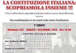 """VITULAZIO. """"La Costituzione italiana: scopriamola insieme"""": sabato 1 dicembre arriva l'ex ministro Valeria Fedeli."""