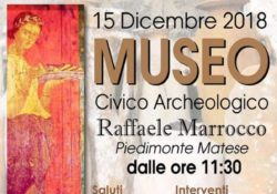 """PIEDIMONTE MATESE. """"Il Museo ritrovato. Un tesoro in grotta"""": l'evento sabato mattina, 15 dicembre, al """"Raffaele Marrocco"""" in largo San Domenico."""