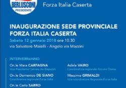 Caserta / Provincia. Forza Italia, sabato 12 inaugurazione della nuova sede del Coordinamento Provinciale in Via Maielli: presenzieranno Carfagna, De Siano, Sarro, Grimaldi, Magliocca e Vairo.