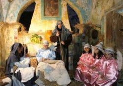 CAMIGLIANO. Il Presepe vivente nella grotta di San Michele: tanti i visitatori ad ammirare la Natività.