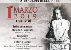 """CAIAZZO. """"L'esodo dei Giuliani, Istriani e Dalmati e la tragedia delle Foibe"""": il convegno in città il prossimo 1 marzo."""