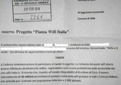 """ALIFE. Progetto """"Piazza Wifi Italia"""", il """"Meetup Alife a 5 Stelle"""" pungola l'amministrazione comunale."""