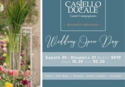 CASTEL CAMPAGNANO. Wedding Open Day al Castello Ducale: porte aperte sabato 30 e domenica 31 marzo 2019 dalle ore 10:30 e fino alle 20:00.
