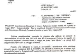 ALIFE. Il Prefetto da ragione ai consiglieri di minoranza: amministrazione comunale costretta a riconvocare la Commissione Elettorale.