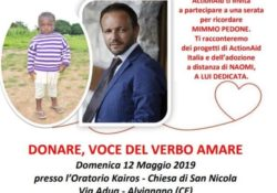 """ALVIGNANO.  """"Donare, voce del verbo Amare"""": l'evento per ricordare Mimmo Pedone scomparso un anno fa."""