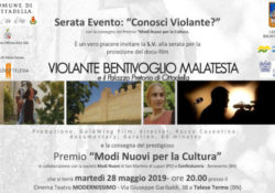 """Telese Terme. """"Conosci Violante?"""", la serata evento che premia cultura e impresa: nella tappa campana consegna del Premio """"Modi Nuovi per la Cultura""""."""