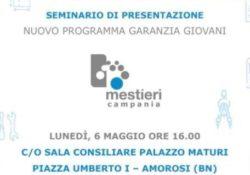 """Amorosi. Lunedì il seminario di presentazione del nuovo programma """"Garanzia Giovani""""."""