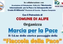 """ALIFE. Mercoledi 22 la 4° edizione della """"Fiaccola della Pace"""" dedicata a Giuseppe Macchiarelli, Antonio Sottile e al 27° della Strage di Capaci."""
