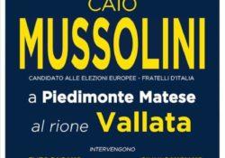 PIEDIMONTE MATESE. Elezioni europee, arriva un Mussolini in paese e monta la polemica: botta e risposta elettori e coordinatrice cittadina di Fratelli d'Italia.