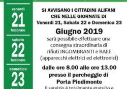 ALIFE. Raccolta di rifiuti ingombranti nel parcheggio di Porta Piedimonte: lodevole inziativa, peccato che il 21, 22 e 23 febbraio sia già trascorso.