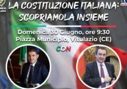 """VITULAZIO. """"La Costituzione Italiana: Scopriamola insieme"""": l'evento in città domenica prossima 30 giugno."""