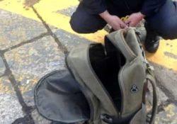 Telese Terme. Zaino abbandonato su un marciapiede con fili che fuoriuscivano: allertata la polizia, si è trattato di un falso allarme.