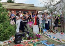 ALIFE. Inaugurato il 1° Segnavia della Fiaccola della Pace nel Parco regionale del Matese: presente la marciatrice dell'AIDO Francy.