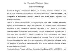 PIEDIMONTE MATESE. Ospedale Civile di Piedimonte Matese: il resoconto degli incontri tenuti con l'on. Carlo Sarro e l'on. Alfonso Piscitelli.