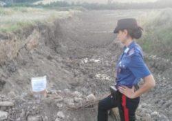 """Apice. Estrazione abusiva di materiale lapideo inerte dall'alveo del fiume """"Miscano"""": sequestrata area di 15mila mq in località Tignano."""