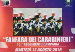 """VALLE AGRICOLA. La """"Fanfara dei Carabinieri"""": questa sera martedì 13 agosto l'esibizione del 10° Reggimento Campania."""