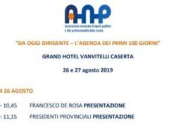 Caserta / Provincia. ANP: seminario per i neo dirigenti scolastici lunedi 26 e martedi 27 agosto al Grand Hotel Vanvitelli.
